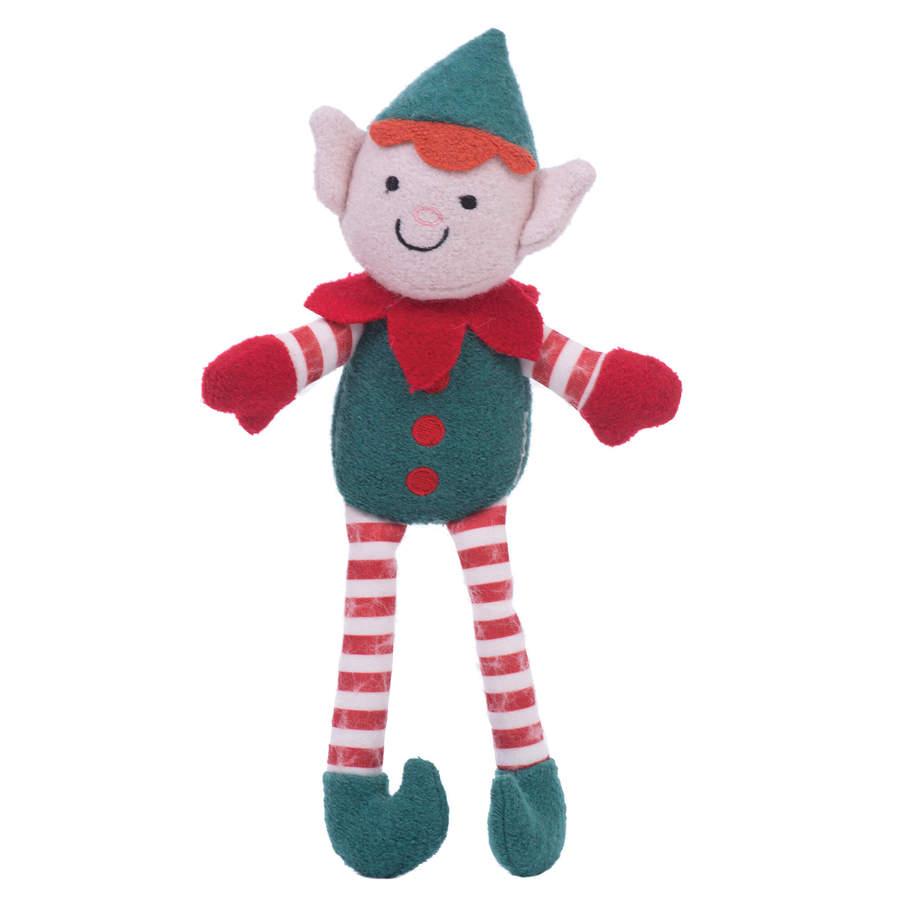 Dog Plush Squeak Toy Elliot The Elf Woolie Toy Natural