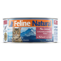 Feline Natural Chicken and Venison Feast 85g x 24 cans
