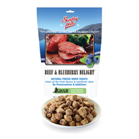 Sunday Pets Freeze Dried Beef & Blueberry Delight Treats 50g