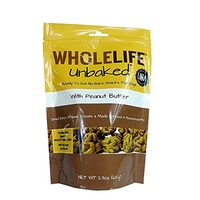 Whole Life Unbaked Peanut Butter with Molasses Dog Treats 65g
