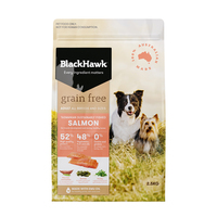 Black Hawk Dry Dog Food Grain Free Salmon 2.5kg