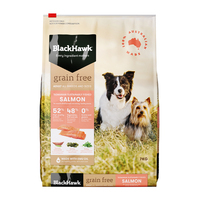 Black Hawk Dry Dog Food Grain Free Salmon 7kg