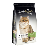 Black Hawk Adult Dry Cat Food Grain Free Chicken 3kg