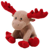 Dog Plush Squeak Toy - Red Christmoose Woolie Toy