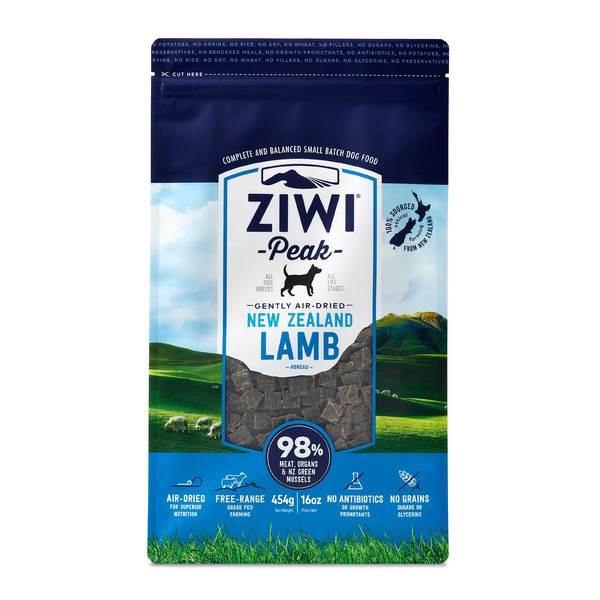 Ziwi Peak Air Dried Lamb for Dogs - 454g pouch