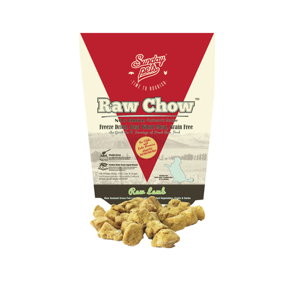 Sunday Pets Raw Chow Freeze Dried Lamb 454g