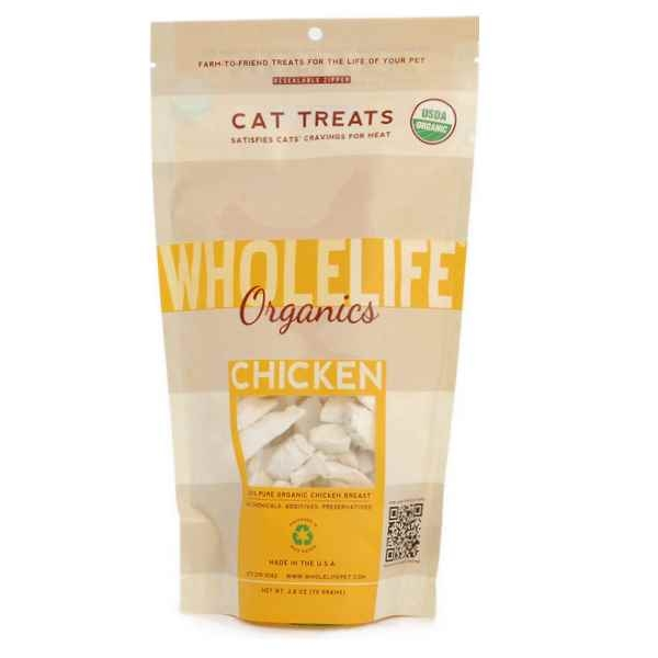 Whole Life Freeze Dried Organic Chicken Cat Treats 2.8oz (79 grams)
