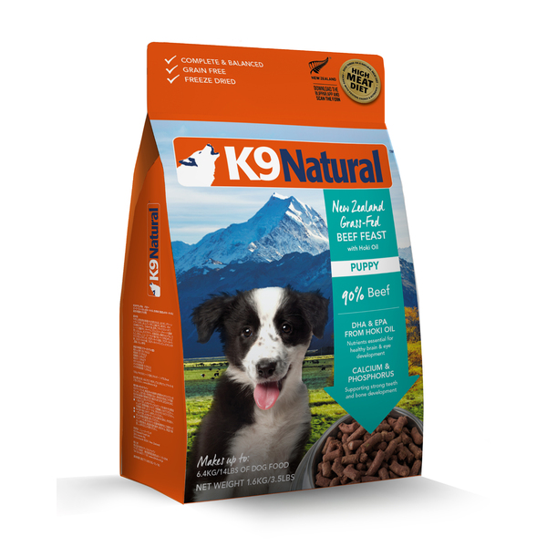 K9 Natural Freeze Dried Dog Puppy Beef 1.8kg